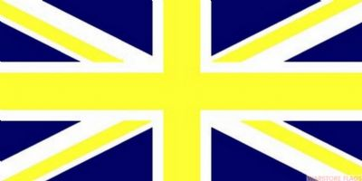 UNION JACK (BLUE & YELLOW) - 8 X 5 FLAG